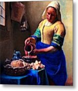 The Milk Maid Metal Print