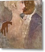 The Mulatto And The Sculpturesque White Woman 1913 Metal Print