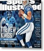 The New Kings 2013 Nfl Football Preview Issue Sports Illustrated Cover Metal Print