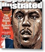 The Nfl Playoffs Knowshon Moreno, The Truth Behind A Sports Illustrated Cover Metal Print