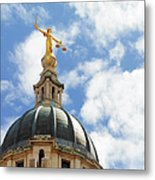The Old Bailey, Central Criminal Court Metal Print