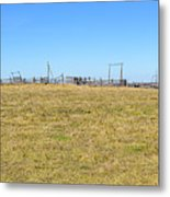 The Old Corral On The Hillock    Metal Print