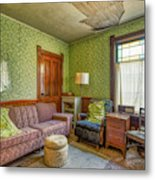 The Old Farmhouse Living Room Metal Print