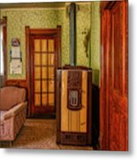 The Old Farmhouse Old Furnace And Woodwork Metal Print