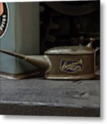 The Old Oil Can Metal Print