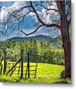 The Old Red Gate Metal Print