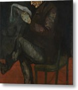 The Painters Father, Louis-auguste Metal Print