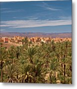 The Palmery Of Nkob In The Draa Valley Metal Print