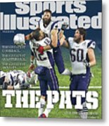 The Pats Super Bowl Li Champs Sports Illustrated Cover Metal Print