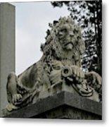 The Patterson Lion Metal Print