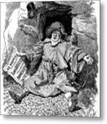 The Pilgrims Rest, Caricature Af Paul Metal Print
