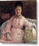 The Pink Dress Also Known As Poop - 1870 - Pc Metal Print