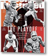 The Playoff 2017-18 College Football Playoff Preview Issue Sports Illustrated Cover Metal Print