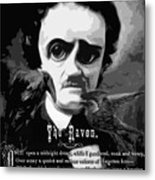 The Raven Edgar Allan Poe Metal Print
