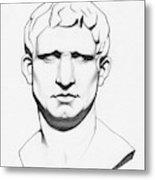The Roman General - Marcus Vipsanius Agrippa Metal Print