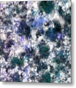 The Silent Blue Decay Metal Print