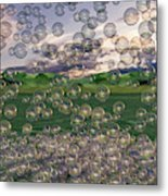 The Simplicity Of Bubbles  Metal Print
