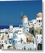 The Small Greek Village Of Oia Metal Print