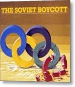 The Soviet Unions Boycott Of Los Angeles Olympics Sports Illustrated Cover Metal Print