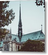 The Spire - Cathedral Of Notre Dame Paris France Metal Print