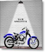 The Sportster Vintage Motorcycle Metal Print