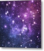 The Stars Constellation Of Orion Metal Print