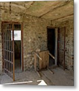 The Stone Jailhouse Interior Metal Print