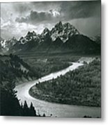 The Tetons - Snake River Metal Print