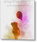 The things that make me different Metal Print