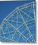 The Top Of A Ferris Wheel, Low Angle Metal Print