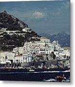 The Town Of Amalfi Metal Print
