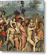 The Triumph Of Bacchus Metal Print