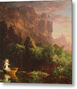 The Voyage Of Life Childhood, 1842 Metal Print