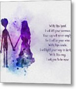 The Wedding Vows Metal Print
