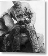 Theodore Roosevelt In Cowpoke Outfit Metal Print