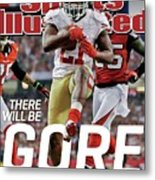 There Will Be Gore Super Bowl Xlvii Preview Issue Sports Illustrated Cover Metal Print