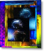 These Colors I Hear When Nancy Wilson Sings Turned To Blue  Metal Print