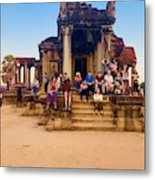 They Come To See Angkor Wat, Siem Reap, Cambodia Metal Print