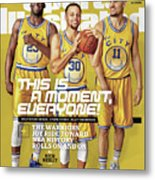 This Is A Moment, Everyone The Warriors Joy Ride Toward Nba Sports Illustrated Cover Metal Print