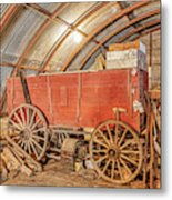 This Old Shed Held A Surprise Metal Print