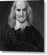 Thomas Hobbes English Philosopher, Engraving Metal Print