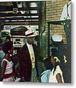Thornton & Family At Bus Station Metal Print