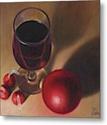 Three Kisses And A Glass Of Port Metal Print