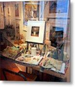 Through An Artists Window Metal Print