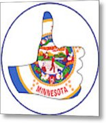 Thumbs Up Minnesota Metal Print