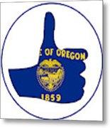 Thumbs Up Oregon Metal Print