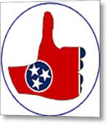 Thumbs Up Tennessee Metal Print