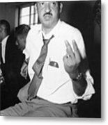 Thurgood Marshall At Naacp Meeting Metal Print