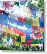 Tibetan Buddhist Prayer Flags Metal Print