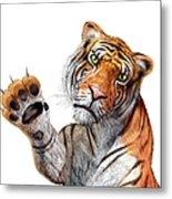 Tiger, Artwork Metal Print